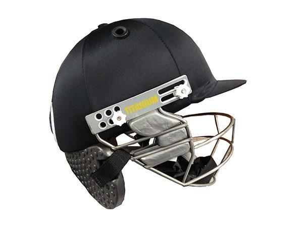Gladius titanium helmet with neck protector (black colour)