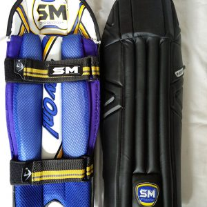 SM Players Pride Black coloured Dhoni wicket keeping pads Wicket Keeping Leg Guards