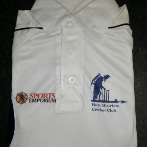 HDCC Official Off White Playing T-Shirt Hutt Districts Cricket Club