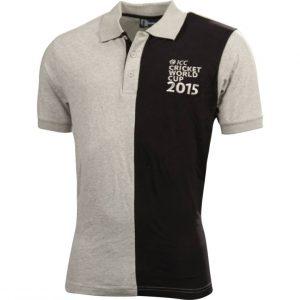 Official ICC Cricket world cup 2015 Mens Grey splice polo Clothing