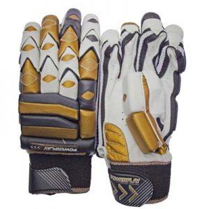 Powerplay Gold Black/Gold coloured batting gloves